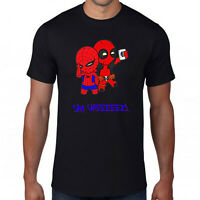 Deadpool Taking A Selfie With Spider-man T-Shirt,Superhero Marvel Comics Top