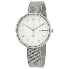 Skagen Signatur White Dial Ladies Mesh Watch SKW2623
