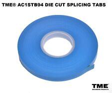 "Open Reel Audio Splicing Tape Tabs Die Cut for 1/4"" Tape Roll of 1000 Archival"