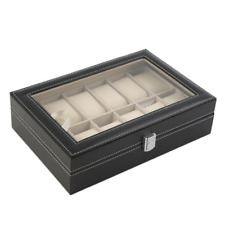 Jewelry Display Box Storage Case Ring Organizer Earring Holder Watch Tray Gift