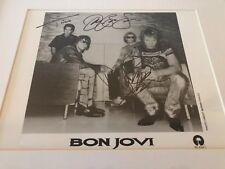Bon Jovi Signed Autographed 8X10 B/W Promo Jon David Tico Promo Hall Of Fame