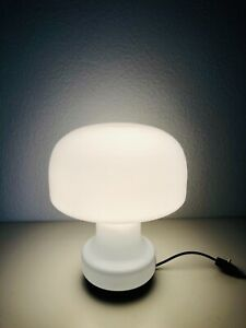 Glashütte Limburg Mushroom Table Lamp Mid Century Modern 1960s