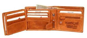 BagzDirect - Cenzoni Genuine Cowhide Leather Men's Wallet RFID Blocking
