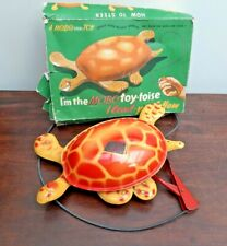 1940/50's MOBO Toy-Toise Tin Plate Walking Mechanical Turtle Toy with Box