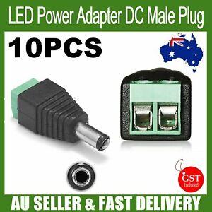 10pcs 12V DC Power CCTV Camera Male Connector Adapter Plug Jack Socket Cable AU