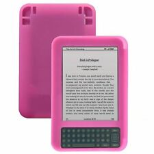 Silicone Skin Case for Kindle 3 - Pink