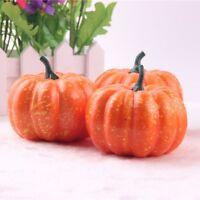 5pcs Halloween Artificial Pumpkins Decorative Fake Fruits Vegetables Ornaments