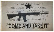 Gonzales Come Take It Gun AR-15 2nd Amendment NRA Script 3'x5' Polyester Flag