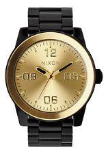 "NIXON ""CORPORAL SS"" A346-010-00 48MM BLACK/GOLD MENS WRISTWATCH"