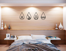 Four Elements Earth Air Fire Water Wall Art Home Decor Hanging Decoration
