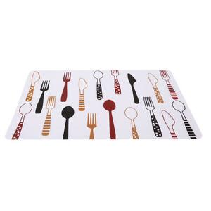 Waterproof Placemat Table Runner Heat-resistant Dinner Mat Kitchen Pad YU
