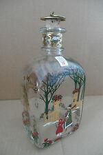 Sehr dekorative Weihnachtsflasche Christmas Bottle Holmegaard  XX