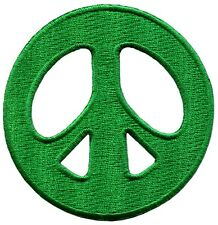 Peace sign hippie retro applique iron-on patch new S-22