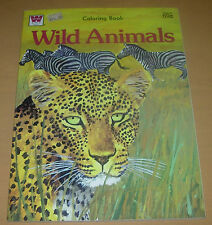 WILD ANIMALS COLORING BOOK  WHITMAN  1974  UNCOLORED AND CLEAN  EX CONDITION