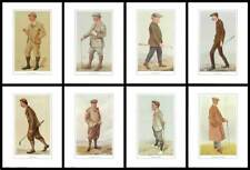 GOLF  -  SET  OF  8  VANITY  FAIR  GREAT  GOLFERS  -  (REPRODUCTIONS)
