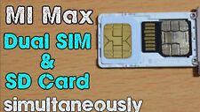 DOPPIA NANO SIM + SD CARD CONTEMPORANEAMENTE SAMSUNG GALAXY DUAL SIM S7 S8 NOTE
