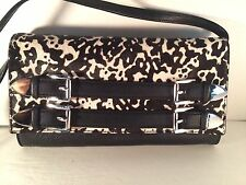 NWT Michael Kors Haircalf Leather Robin Convertible Clutch/Shoulder Bag+Dust Bag
