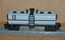 "NEW Lego Train Custom Light Bluish Gray Tanker Car 9"" inches long MOC/RC/9V/CITY"
