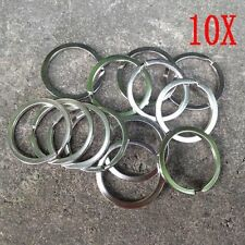 32mm Pocket Clasps Split Key Ring Chain Loop Keychain Stainless Steel
