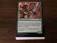 Miscut Wood Elves Misprint MTG Magic Card EDGE OF SHEET