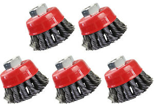 5 Neilsen Wire Cup Angle Grinder Brush - 2.5 inch 65mm Knotted CT2476