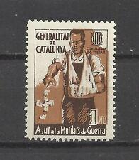 8166-SELLO VIÑETA NUEVO MNH ** AJUT MUTILATS GUERRA GENERALITAT CATALUNYA 1PTA