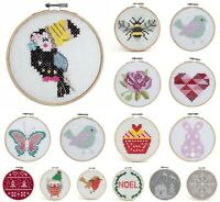 Counted Cross Stitch Kit With Hoop - Beginners/Childrens Starter - Trimits Felt