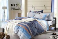 Odyssey Reflection Blue 250TC Cotton Quilt Doona Cover Set - DOUBLE QUEEN KING