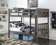 Double Bunk Beds in Slate Gray