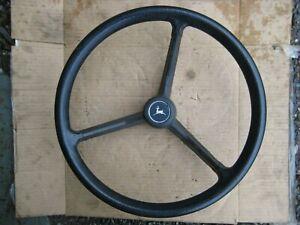 John Deere 210 212 214 216 300 314 317 318 -  steering wheel & cap, nice!