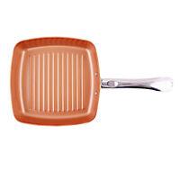 Poêle à Frire avec Poignée Motif Carrée Outil Cuisson Grill, Barbecue