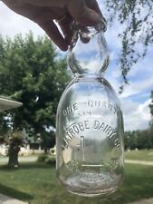 Beautiful Latrobe Dairy Co. Latrobe PA. Embossed Quart Cream Top Milk Bottle