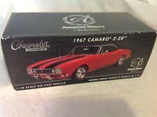 Chevrolet Camaro 1967 Z-28 1/18 Scale Diecast Detailed Model w Certificate & Box