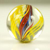 Lauscha Glas Murmel Antik 29mm Doppelabriss um 1900 schöne Farben Shooter