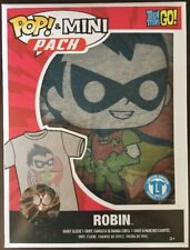 Teen Titans Go Pop & Mini Pack Robin Size Large T-Shirt & Mini Pop - Brand New