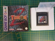 GAME BOY GAMEBOY COLOR GBC BOXED BOITE TUROK 2 SEEDS OF EVIL CGB-A2TP-EUR