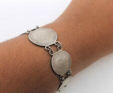 Sterling Silver Estate Georgivs VI D G Br Omn Rex 1942 Coin Bracelet