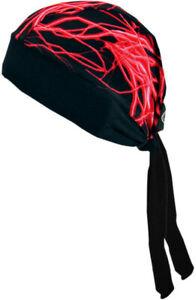 Schampa Z-Wraps Stretch Headwrap Black/Red Lightning Black | Red BNDNA003-35