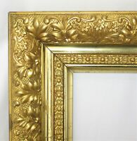 "ANTIQUE Fit 6.25"" x12.5"" ORNATE GOLD GILT WOOD PICTURE FRAME FINE ART VICTORIAN"