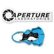 Portal 1980s Aperture Logo and Portal Gun Patch 2-Pack - Officially Licensed