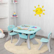 3tlg. Kindersitzgruppe Sitzgruppe Kindertisch&2 Kinderstühlen Aufbewahrungsboxen