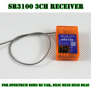 SR3100 3 Channel 2.4Ghz Receiver For Spektrum DSM2 RC Car, DX3C DX3E DX3S DX4S