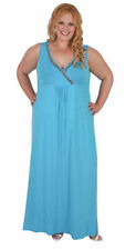 Hand-wash Only Solid Plus Size Maxi Dresses for Women