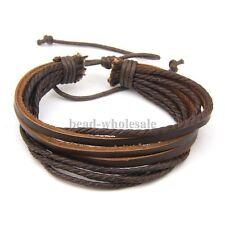 Damen Herren Surferarmband Wickelarmband Leder Armband Unisex Leather Bracelet