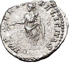 CARACALLA  196AD Silver Ancient Roman Coin  Felicatas  Good luck  i55426