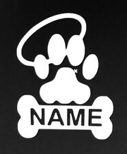 Dog Bone, Paw with Halo customized with name Vinyl Decal