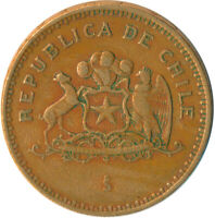 COIN / REPUBLIC OF CHILE / 100 PESOS 1993  #WT5861