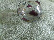Partylite Mosaic Tea Light Bowl Round Stain Glass Euc