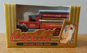 1993 Ertl 1931 Delivery truck Coca Cola 1:34 scale coin bank