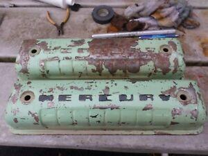 1954 1955 1956 mercury y- block valve covers 254 272 292 312 embossed mercury